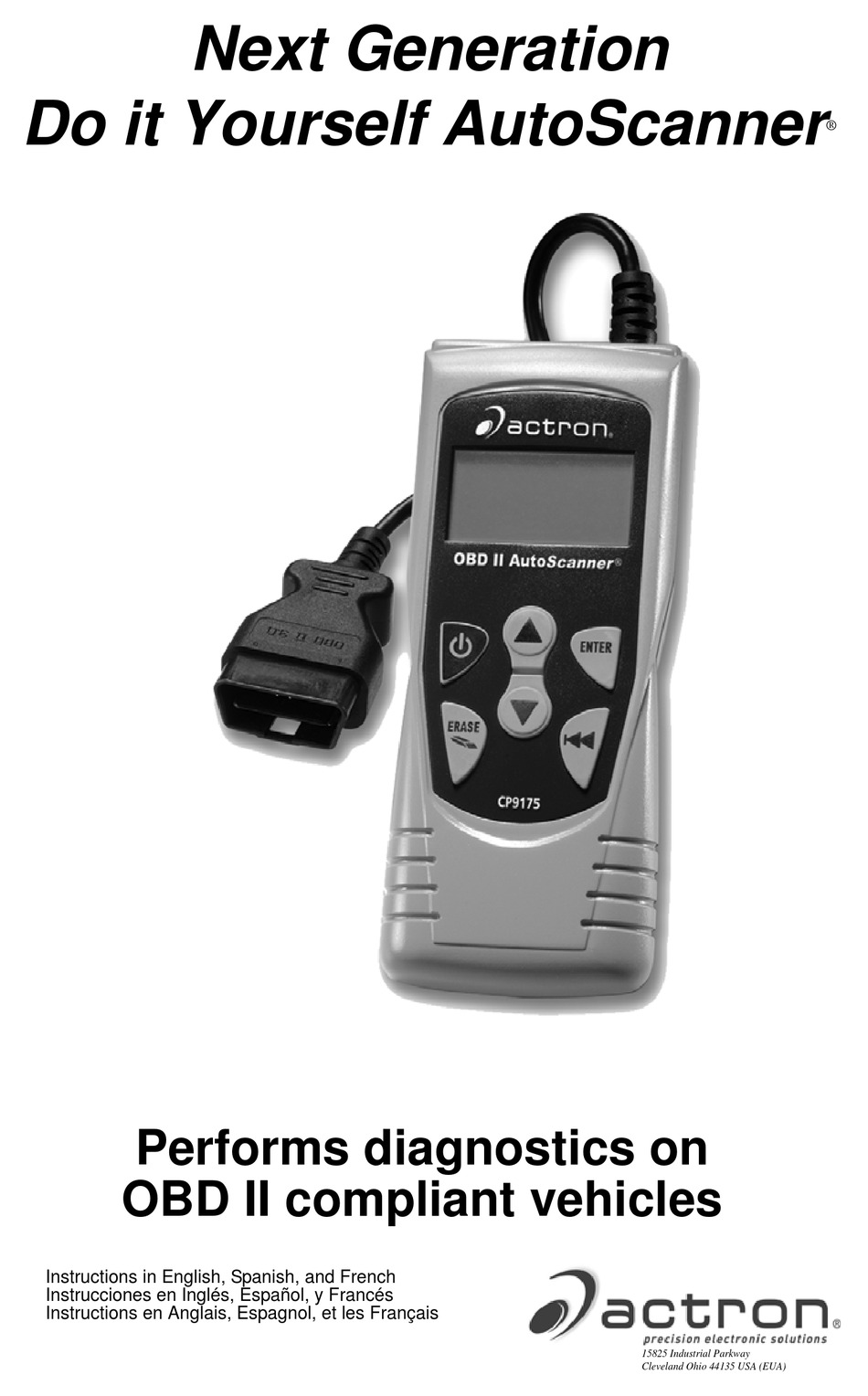 Actron Obd Ii Autoscanner Cp9175 Instructions Manual Pdf Download Manualslib