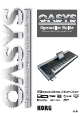 Korg OASYS musical instruments Operation Manual