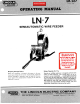 Lincoln Electric IM-267 Operating Manual