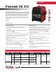 Lincoln Electric Precision 275 Specification Sheet
