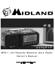 Midland Weather Alert Radio WR11 Owner's Manual