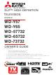 Mitsubishi WD-Y57aa Owner's Manual