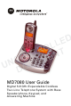 Motorola MD7080 Series User Manual