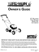 Yard-Man 11B-106C401 Owner's Manual