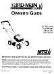 Yard-Man 11B-106C401 Owner's Manual