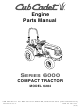 Cub Cadet 6284 Engine Parts Manual