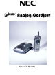 NEC Dterm Analog Cordless Telephone User Manual