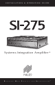 Niles SI-275 Installation & Operation Manual