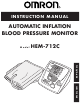 Omron HEM-712C Instruction Manual