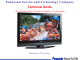 Panasonic Generation Plasma Display Television Technical Manual