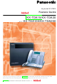 Panasonic KX-TDA100 User Manual