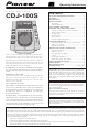 Pioneer CDJ-100S Operating Instructions Manual