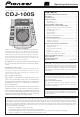 Pioneer CDJ-100S Operating Instructions Manual
