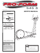 ProForm heart rate monitor 545S User Manual