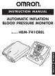 Omron HEM-741CREL Instruction Manual