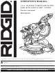 RIDGID MS1290LZ1 Operator's Manual