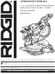 RIDGID MS1290LZ1 Operator's Manual