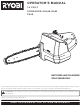 Ryobi P540 Operator's Manual