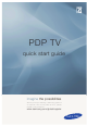 Samsung PDP TV Quick Start Manual
