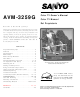Sanyo AVM-3259G Owner's Manual