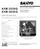 Sanyo AVM-3650G Owner's Manual