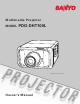 Sanyo PDG-DHT100L Owner's Manual