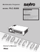Sanyo PLC-XU88 Owner's Manual
