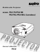 Sanyo PLV-75 Owner's Manual