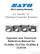 SATO CL412E Operator And Technical Reference Manual