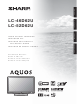 Sharp Aquos LC 46D62U Operation Manual