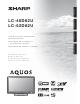 Sharp Aquos LC 46D62U Operation Manual