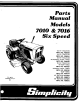 Simplicity 7016 Parts Manual