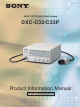 Sony DXC-C33 Product Information Manual