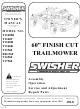 swisher t1360t  t1360b1  t1360t  t1360h  t1360k  t13560 swisher trail mower manual swisher trail mower manual 44