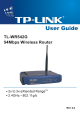 TP-Link TL-WR542G User Manual