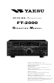 Yaesu FT-2000 Operating Manual