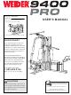 Weider WESY39311 User Manual