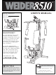 Weider WESY85104 User Manual