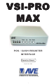 AVE VSI-Pro Max Operation Manual