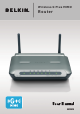 Belkin Wireless G Plus MIMO Router F5D9230-4 User Manual