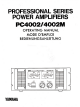 Yamaha PC4002M Operating Manual
