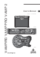 Behringer V-AMP PRO User Manual