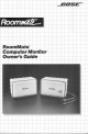 Bose Roommate Computer Monitor Owner's Manual