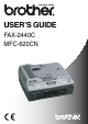 Brother FAX-2440C User Manual