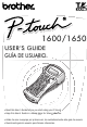 Brother P-Touch PT-1600 User Manual