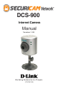 D-link DCS-900 Reference Manual