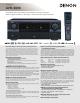 Denon AVR-3806 Specifications