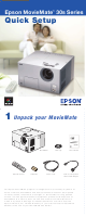 Epson MovieMate 30s Quick Setup Manual