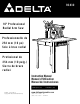 Delta RS830 Instruction Manual