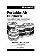 Honeywell 50250N - Permanent True HEPA Air Purifier Owner's Manual